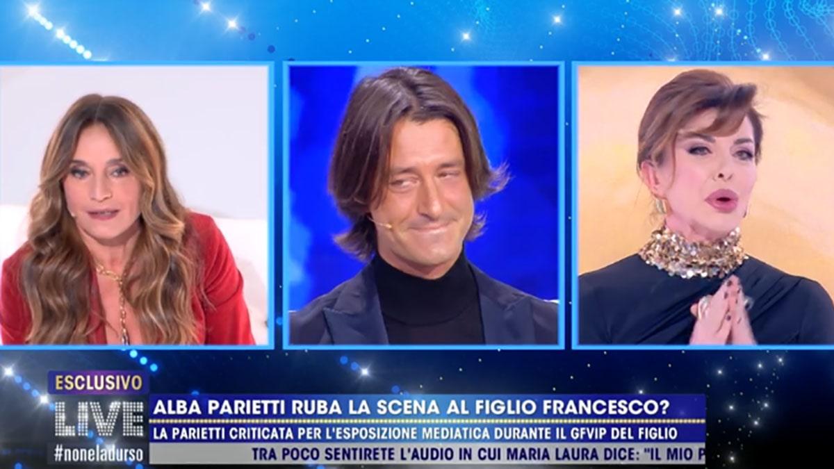 foto Caterina Collovati Francesco Oppini e Alba Parietti a Live Non è la D'Urso