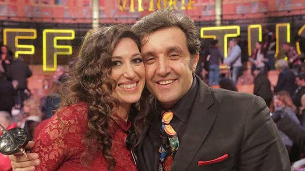 foto Flavio Insinna e Adriana Riccio