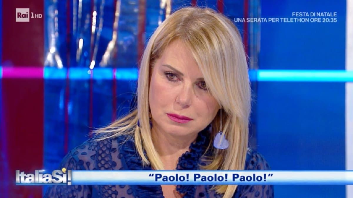 foto di Monica Leofreddi in lacrime a Italia Si