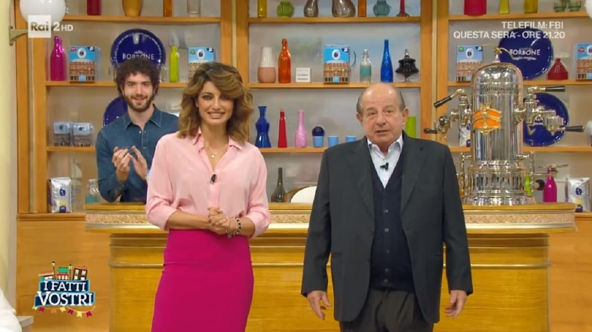 foto di Giancarlo Magalli e Samanta Togni a I Fatti Vostri del 3 dicembre