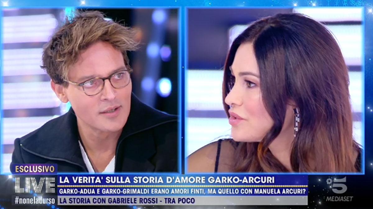 foto Manuela Arcuri e Gabriel Garko a Live Non è la D'Urso