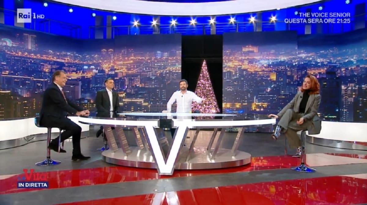foto da La vita in diretta del 18 dicembre