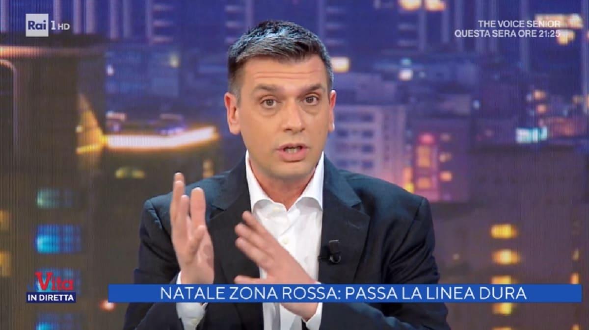 foto di Roberto Poletti a La vita in diretta del 18 dicembre