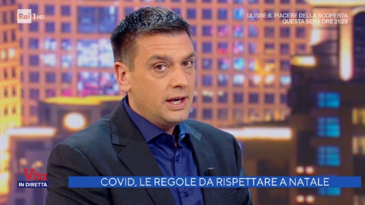 foto di Roberto Poletti a La vita in diretta del 23 dicembre