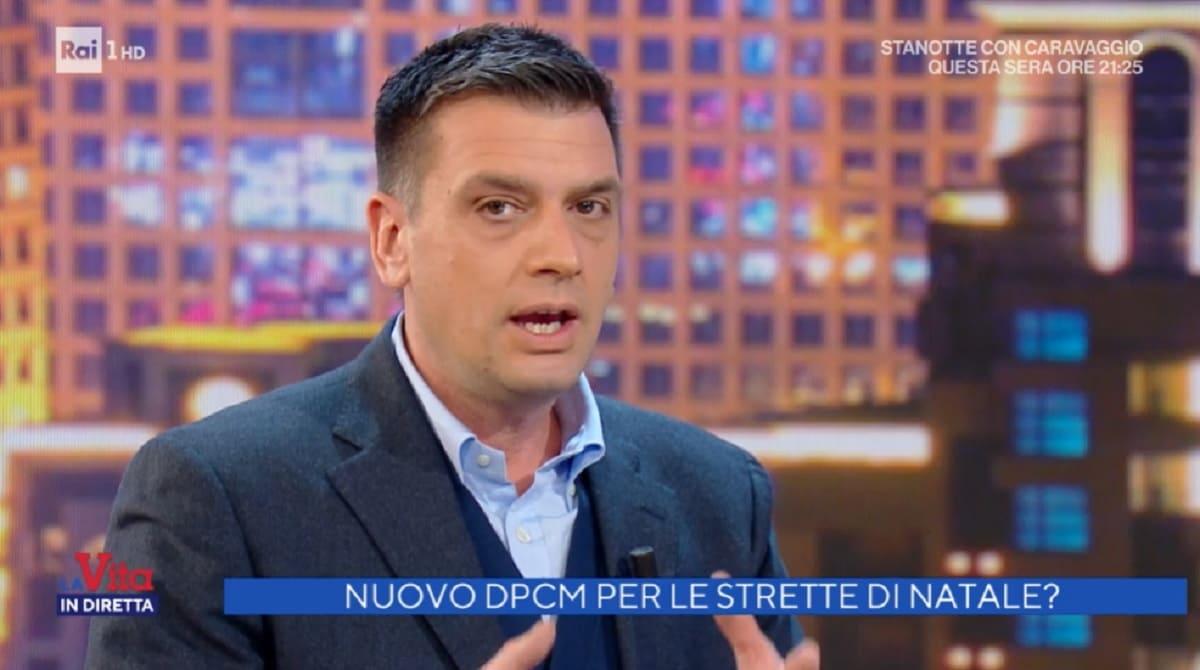 foto di Roberto Poletti a La vita in diretta del 16 dicembre