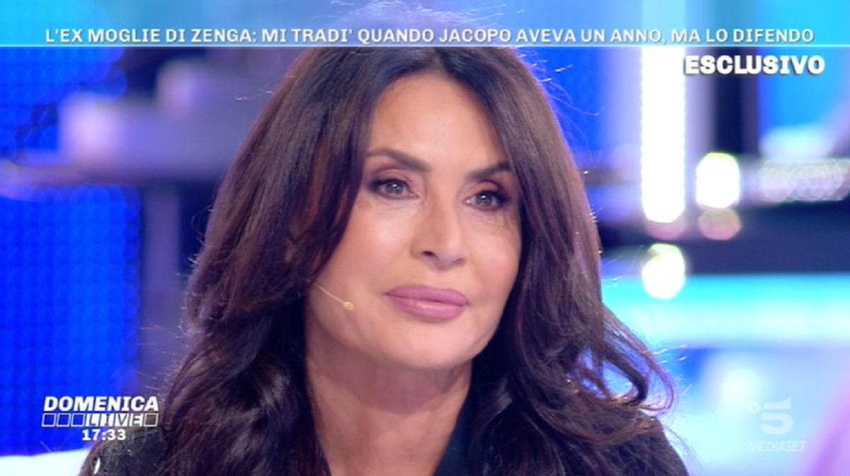 Foto Elvira Carfagna Difende Walter Zenga Domenica Live