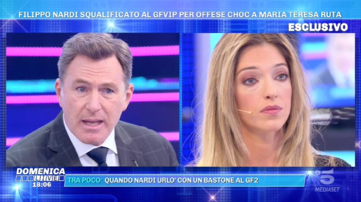 Foto Guenda Goria Critica Filippo Nardi Domenica Live