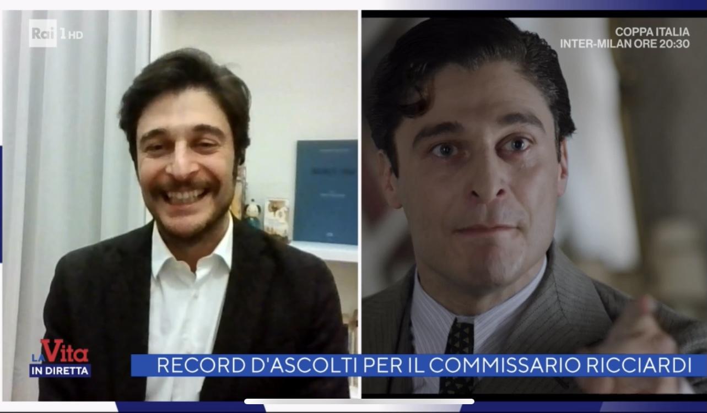 Foto Lino Guanciale La vita in diretta