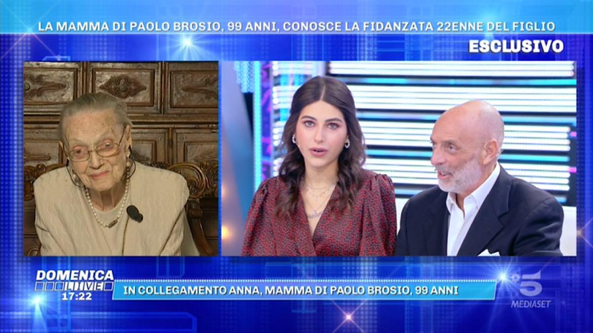 Foto Paolo Brosio Maria Laura Domenica Live