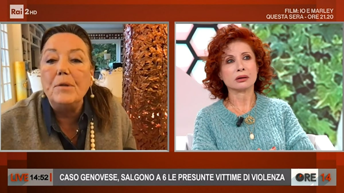 foto Annamaria Bernardini De Pace e Alda D'Eusanio a Ore 14