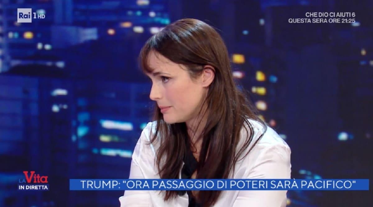 foto di Lorena Bianchetti a La vita in diretta del 7 gennaio