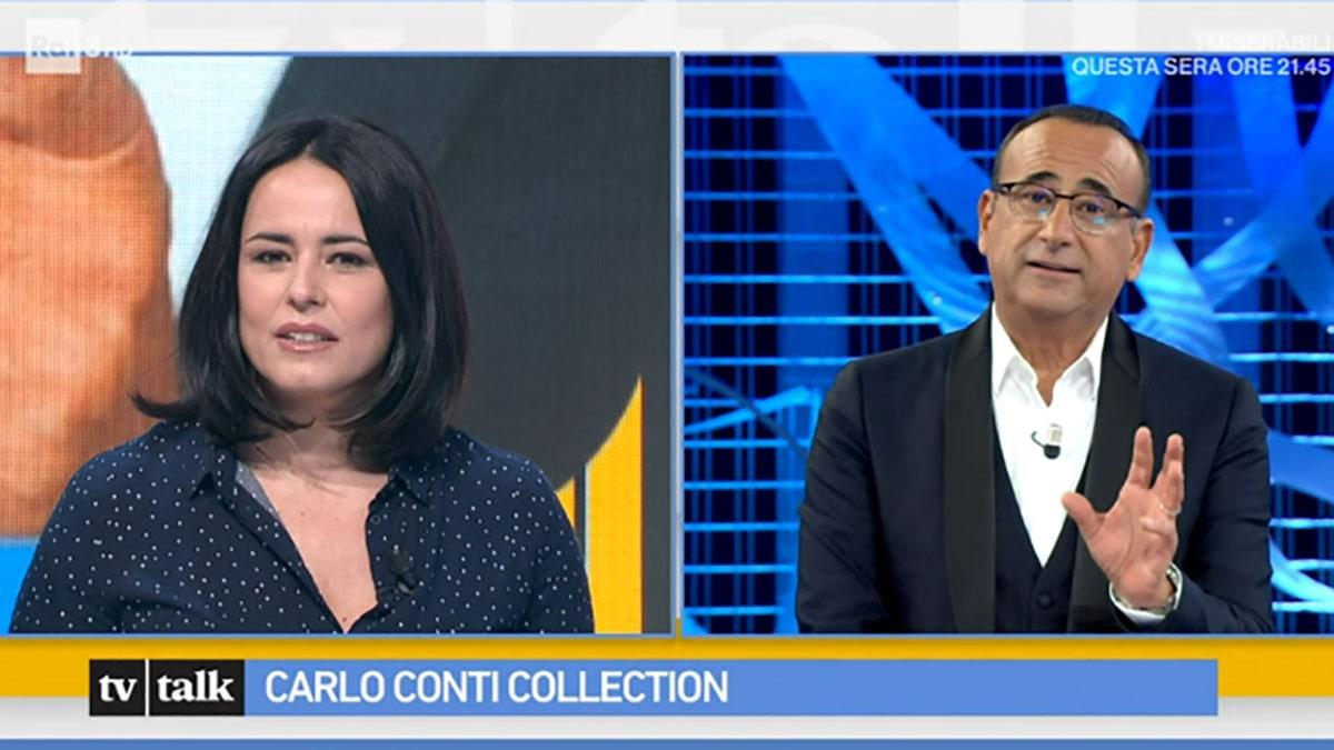 foto Carlo Conti a Tv Talk