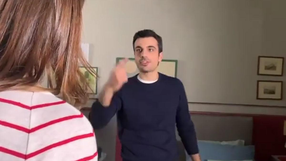 foto Diana Del Bufalo e Gianmarco Saurino sul set di Che Dio ci aiuti &