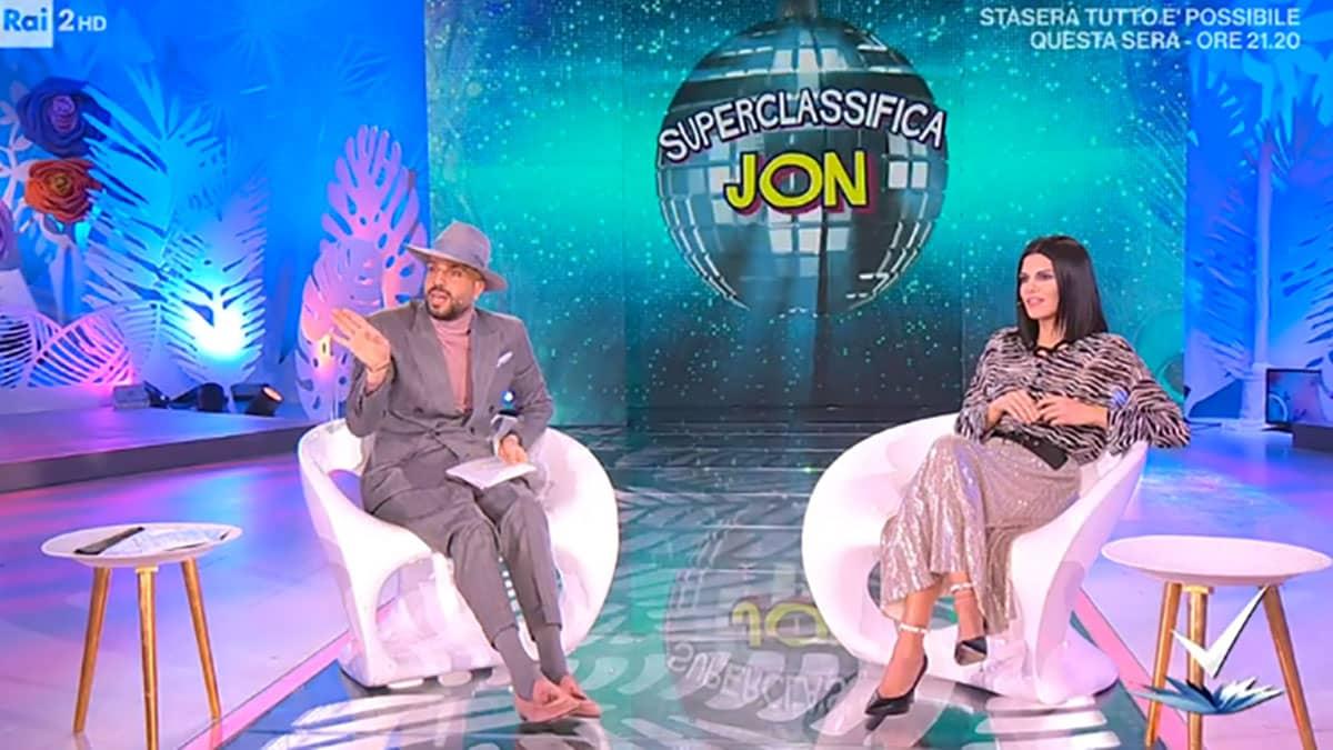foto Jonathan e Bianca Guaccero a Detto Fatto