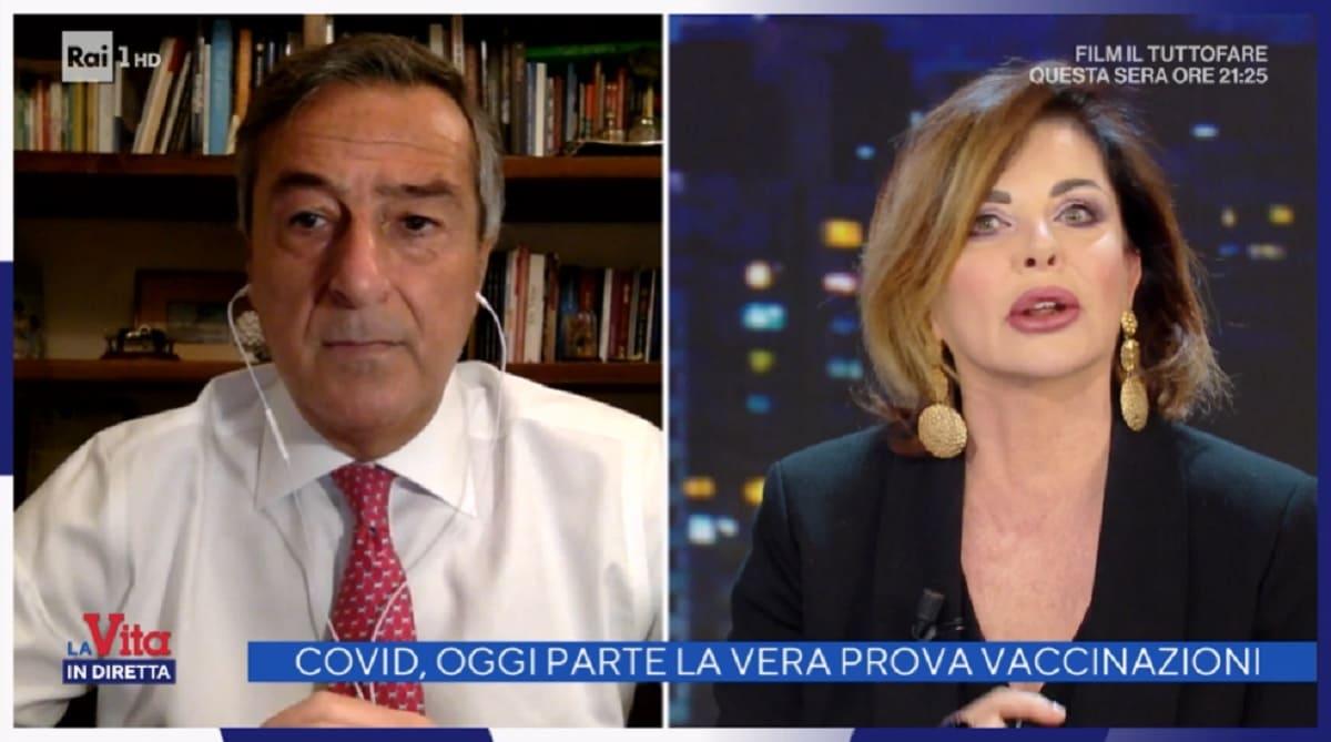 foto di Alba Parietti a La vita in diretta del 4 gennaio