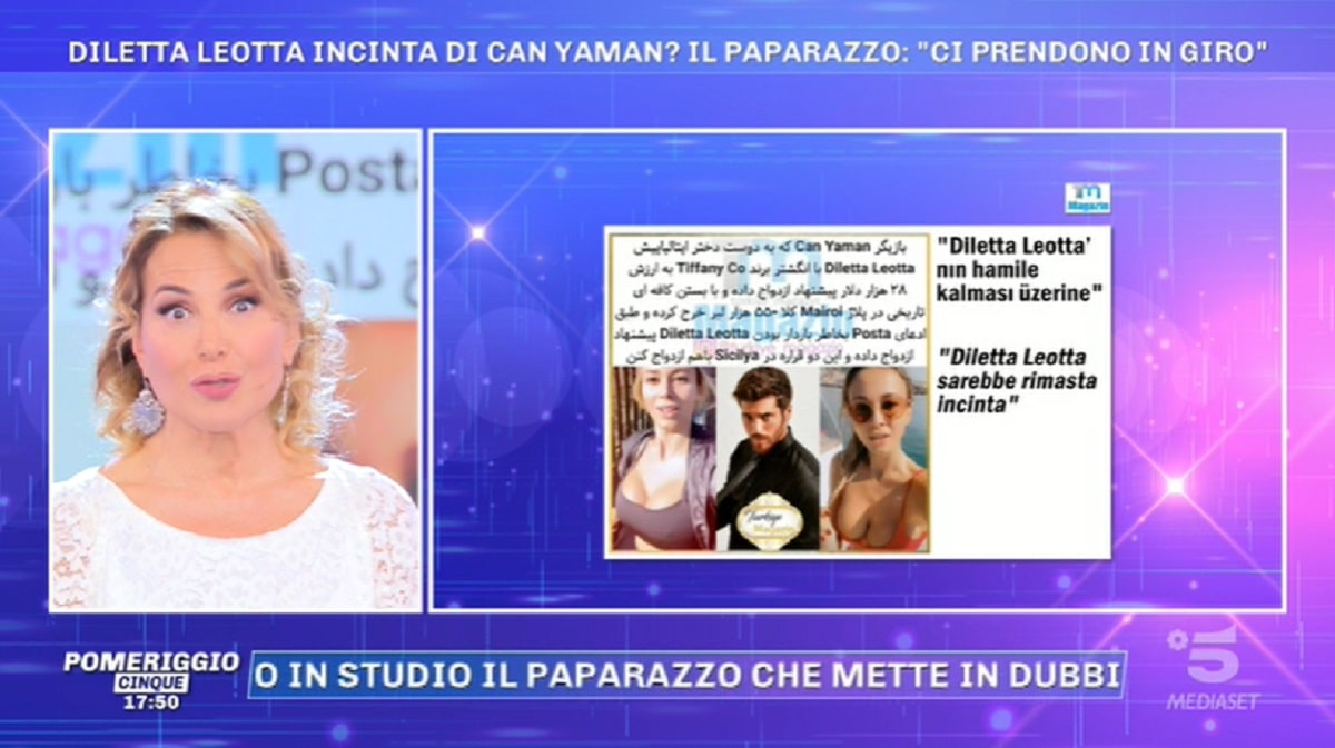 Foto Diletta Leotta Incinta Di Can Yaman Pomeriggio 5