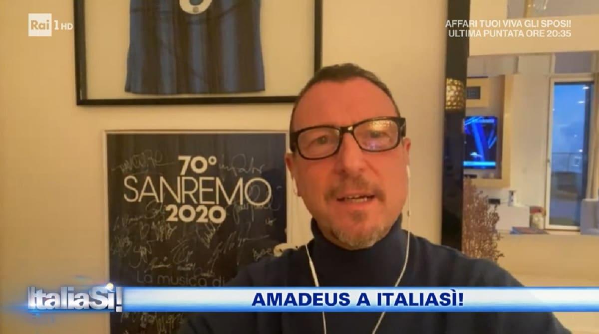 foto di Amadeus a Italia Si