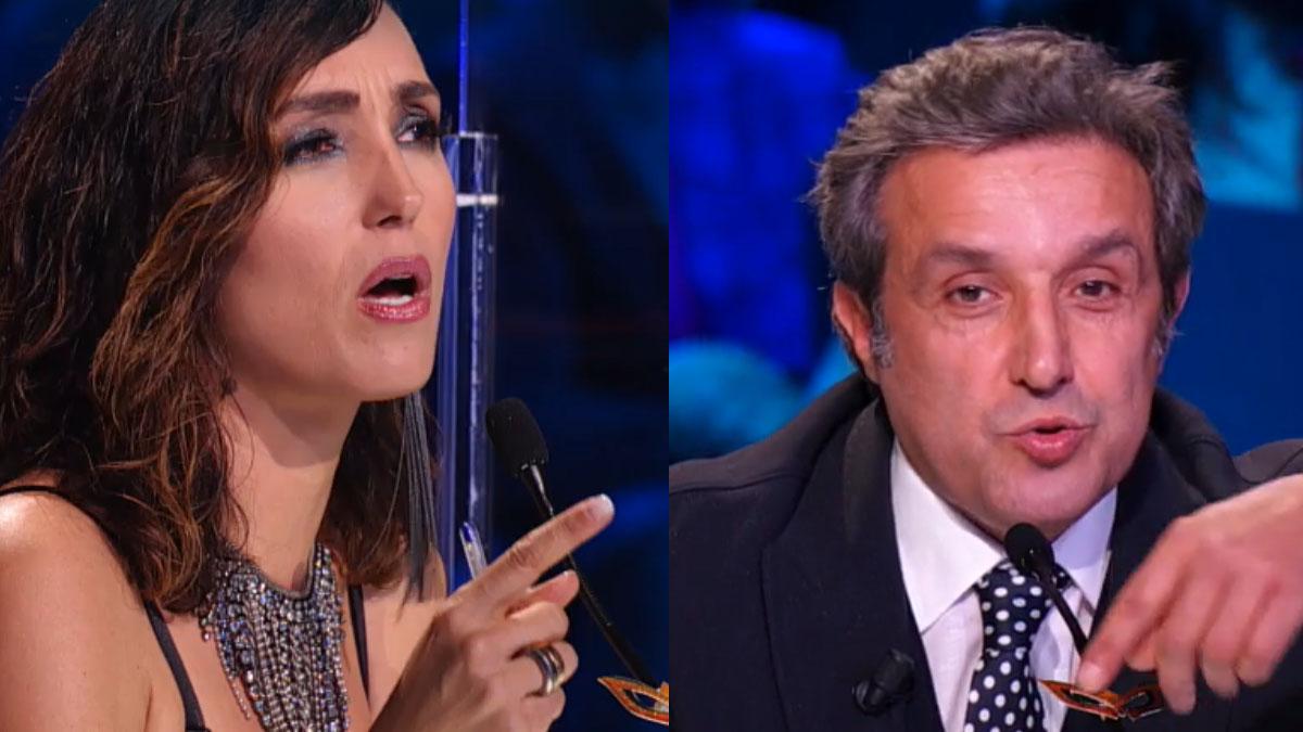 foto Caterina Balivo e Flavio Insinna a Il cantante mascherato
