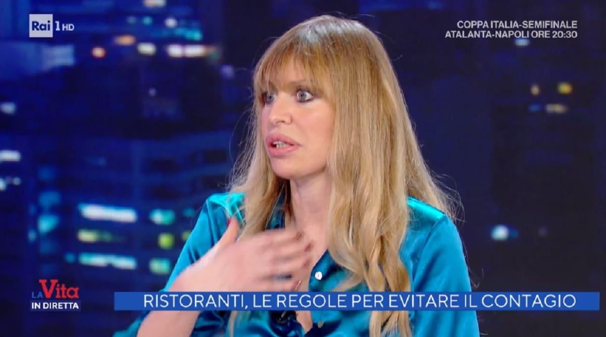 foto di Alessandra Mussolini a La vita in diretta