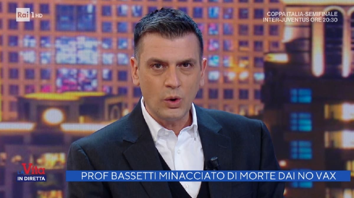 foto di Roberto Poletti a La vita in diretta del 2 febbraio