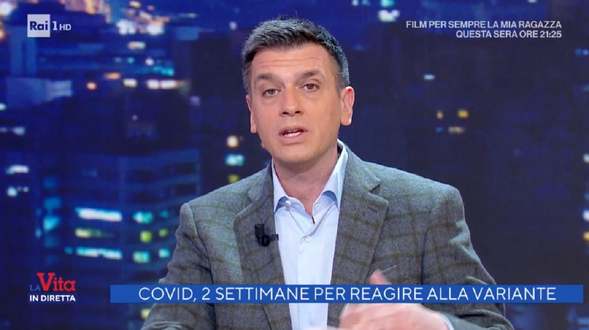 foto di Roberto Poletti a La vita in diretta del 16 febbraio