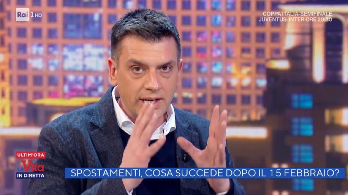 foto di Roberto Poletti a La vita in diretta del 9 febbraio