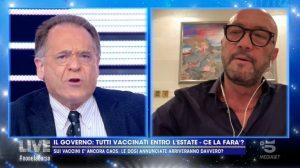 Foto Walter Zenga Contro Cecchi Paone Live Non E' La d'Urso