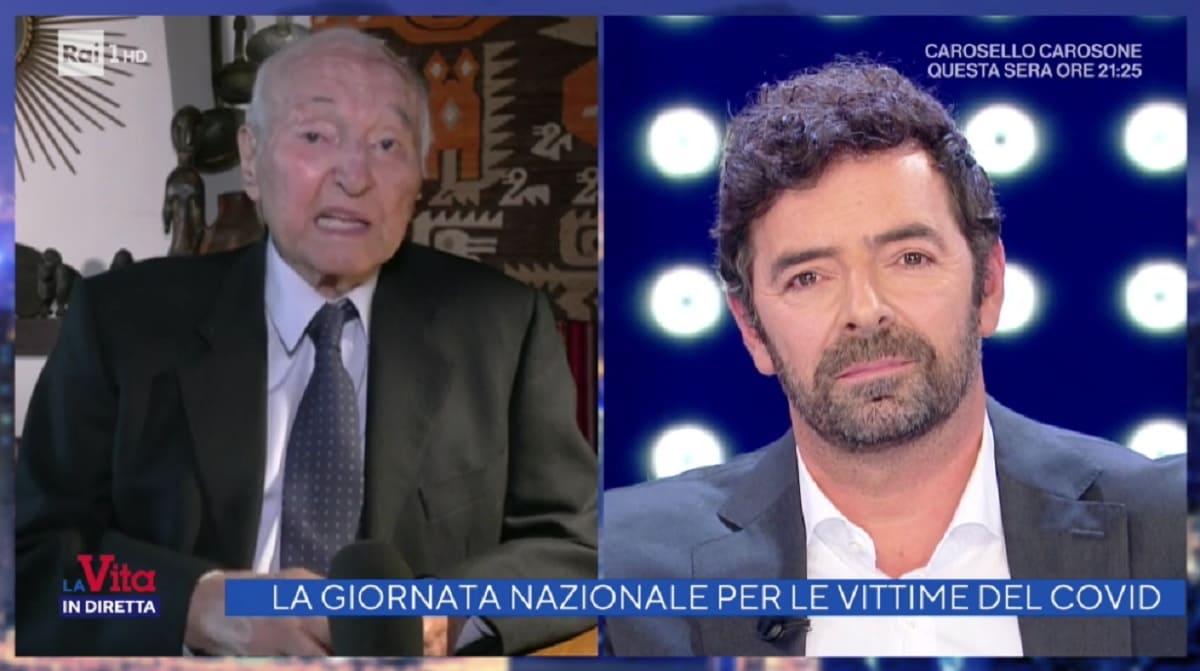 foto di Piero Angela e Alberto Matano