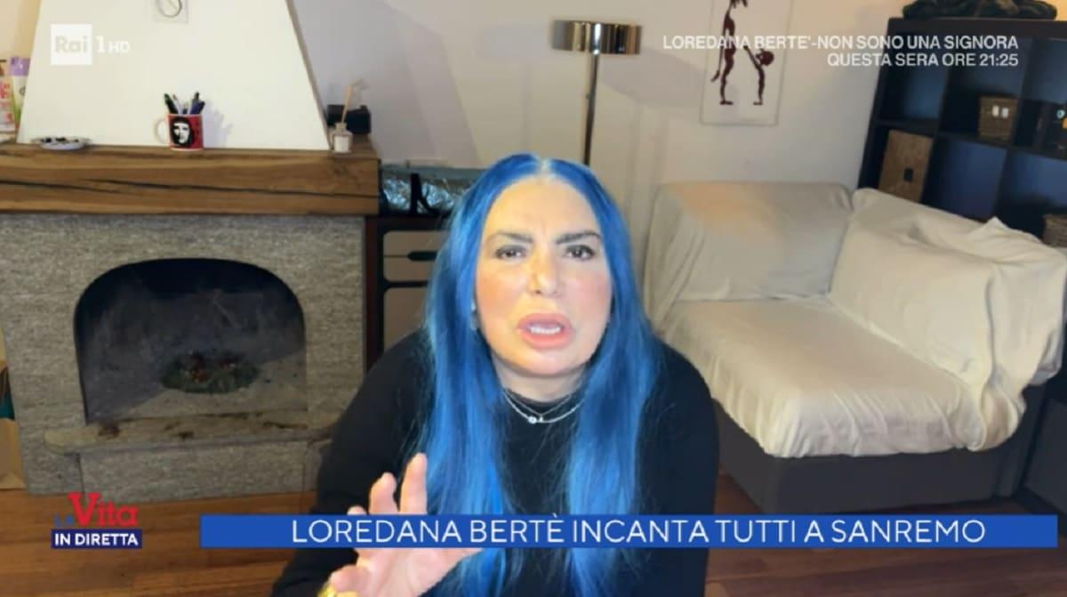 foto di Loredana Bertè a La vita in diretta