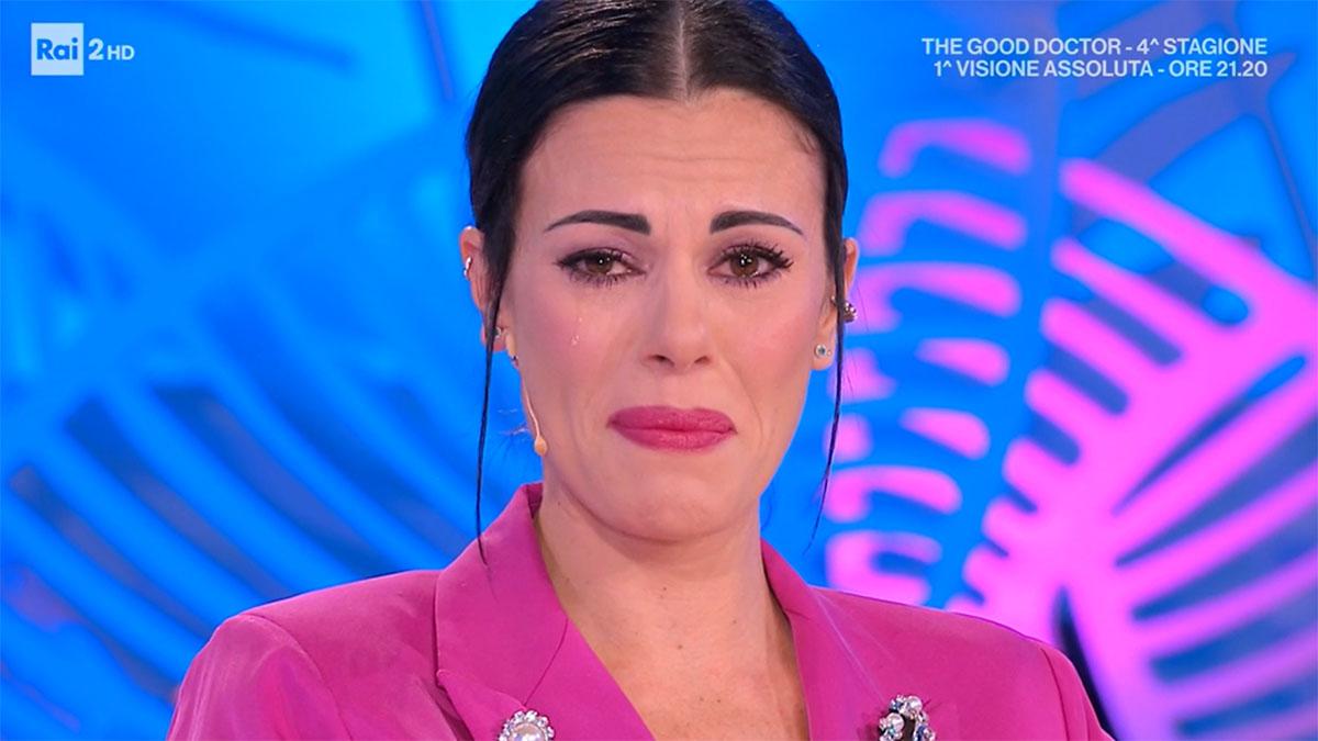 foto Bianca Guaccero in lacrime a Detto Fatto