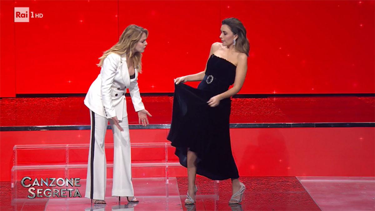 foto Claudia Gerini e Serena Rossi a Canzone Segreta