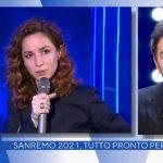 """Andrea Delogu spiazza Alberto Matano: """"C'è la tua foto nei camerini"""""""