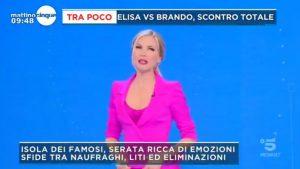 foto Federica Panicucci Mattino Cinque 23 marzo