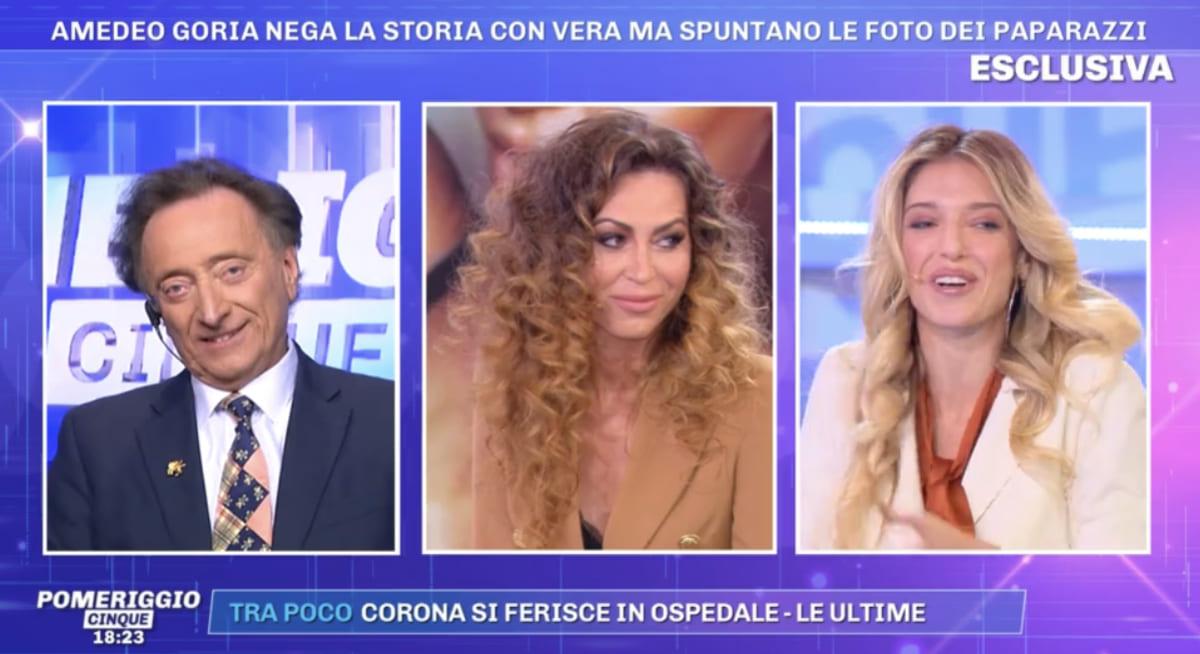 foto Guenda Goria imbarazzo diretta
