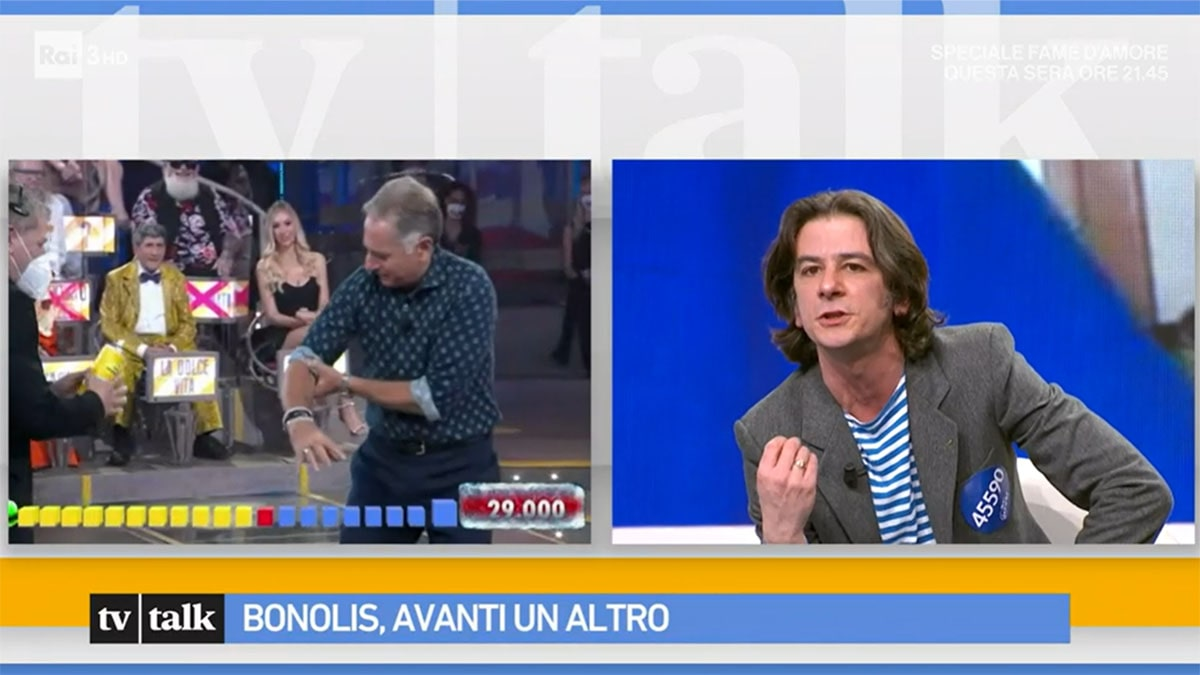 foto Paolo Bonolis e Francesco Mandelli a Tv Talk