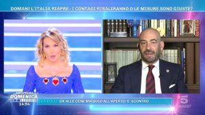 Foto Domenica Live Barbara d'Urso e Bassetti