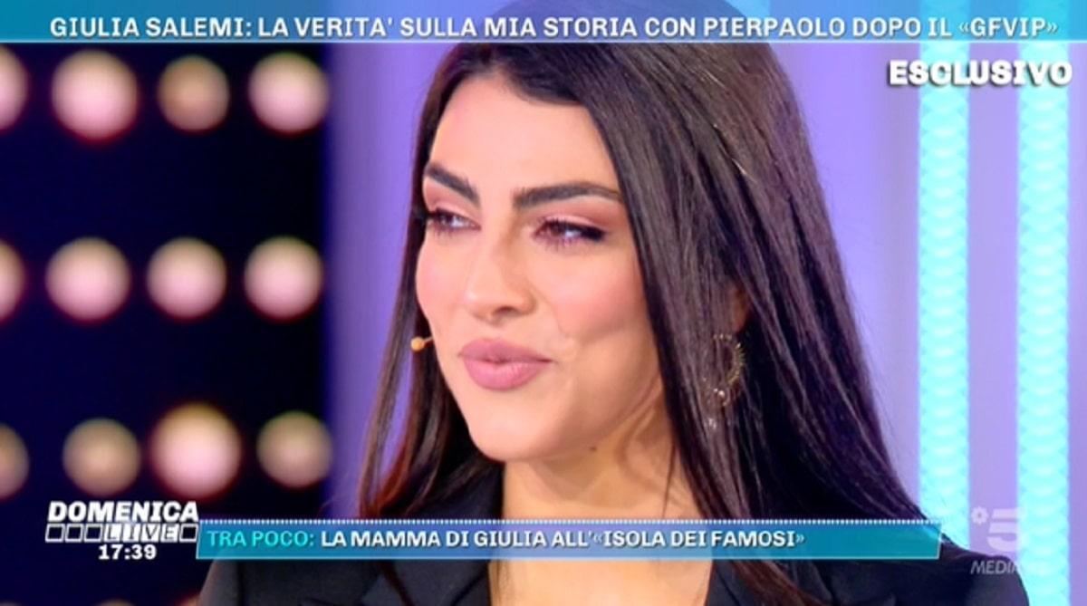 Foto Giulia Salemi a Domenica Live