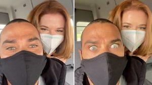 Foto Grey's Anatomy 17 - Sarah Drew e Jesse Williams