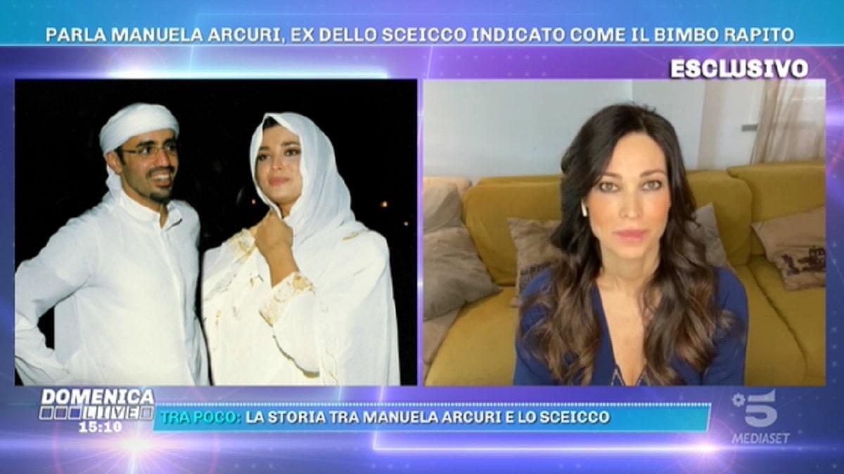 Foto Sceicco Habtoor Manuela Arcuri Domenica Live