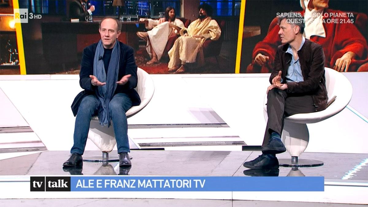foto Ale e Franz a Tv Talk