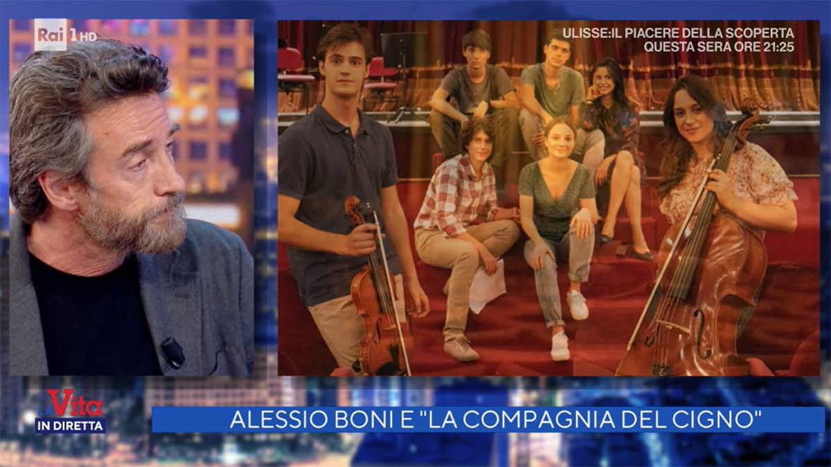 foto Alessio Boni de la compagnia del cigno 2 a La vita in diretta