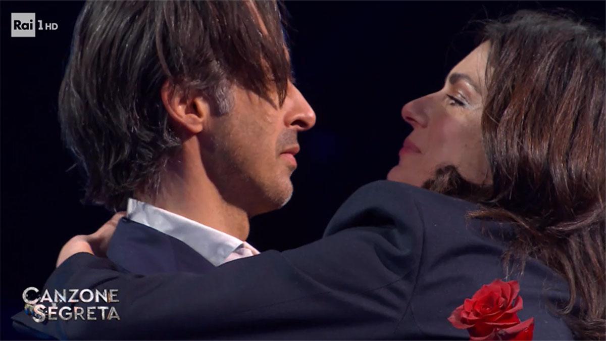 foto Anna Valle ed il marito Ulisse a Canzone Segreta