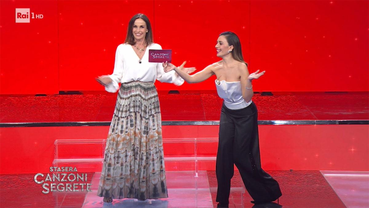 foto Cristina Parodi e Serena Rossi a Canzone Segreta