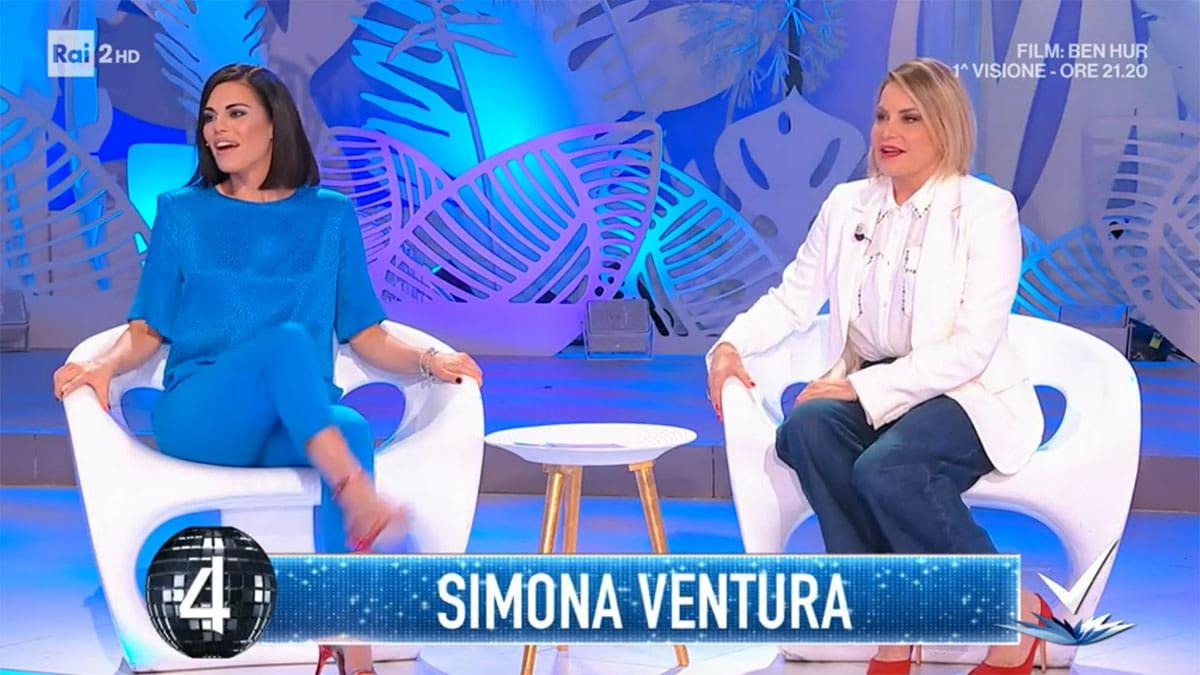 foto Bianca Guaccero e Simona Ventura a Detto Fatto