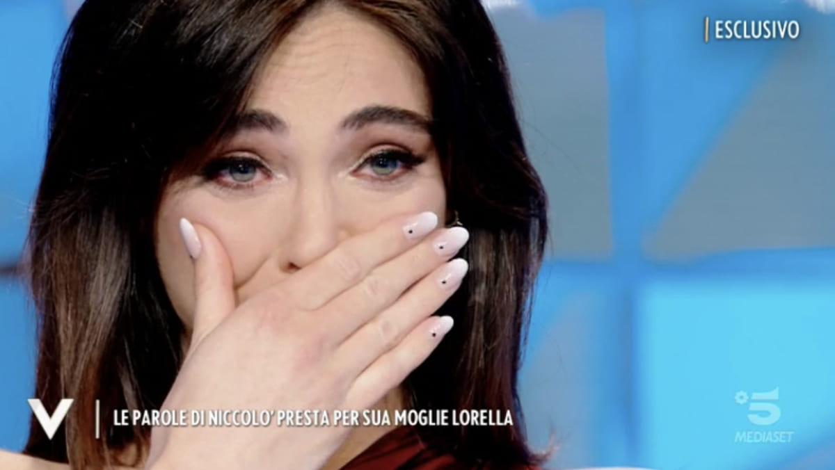 foto Lorella boccia piange verissimo