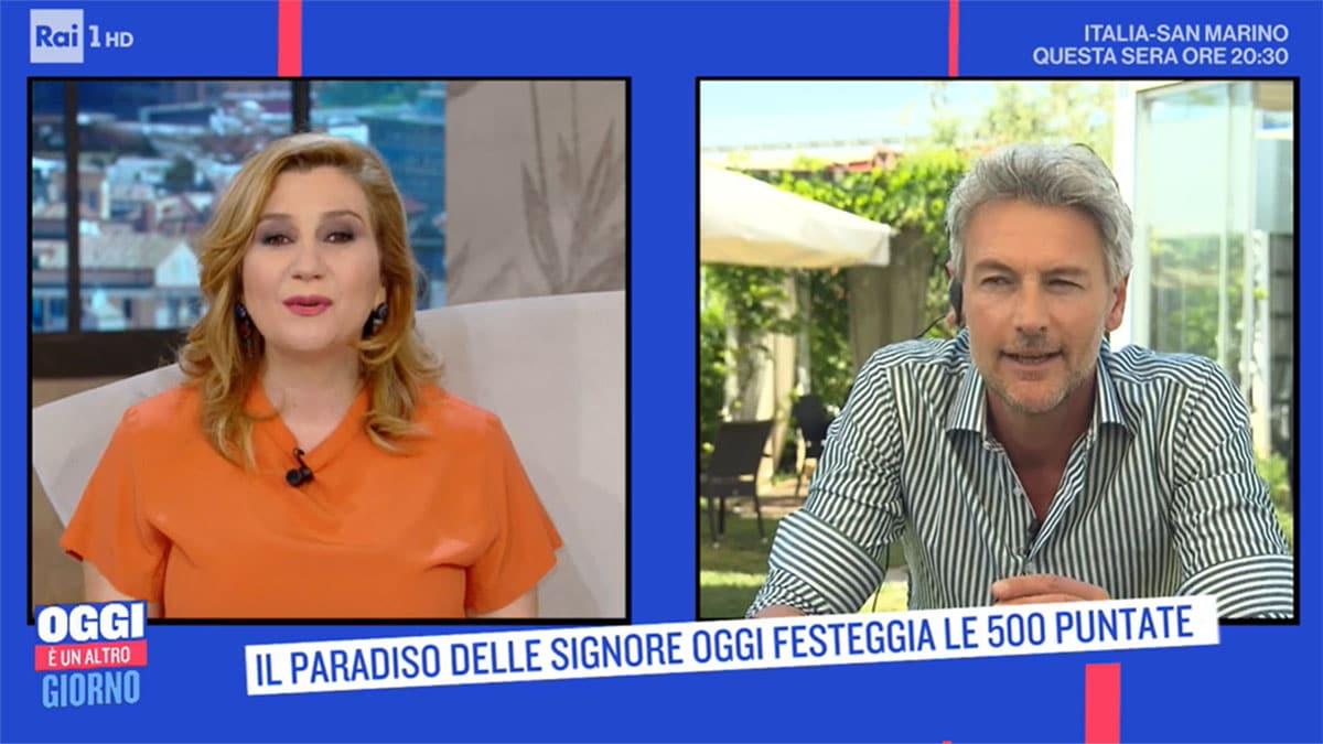 foto Serena Bortone e Roberto Farnesi