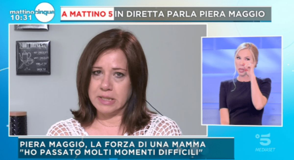 foto Federica Panicucci commossa