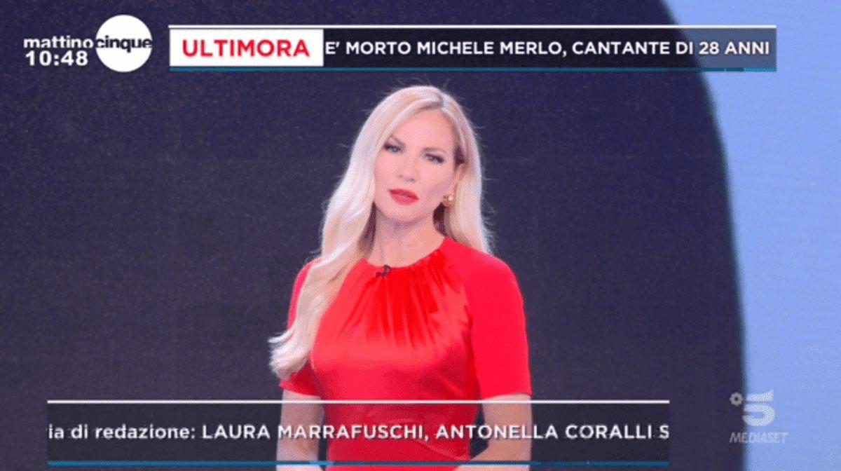 foto Federica Panicucci dramma diretta