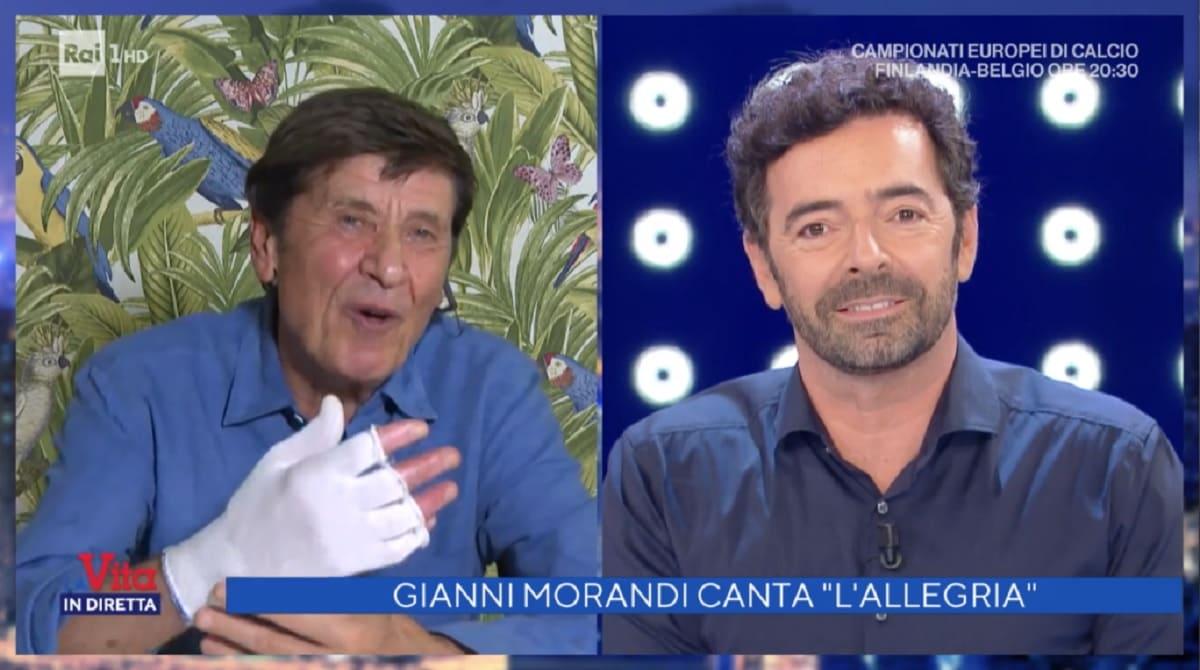 foto di Gianni Morandi e Alberto Matano
