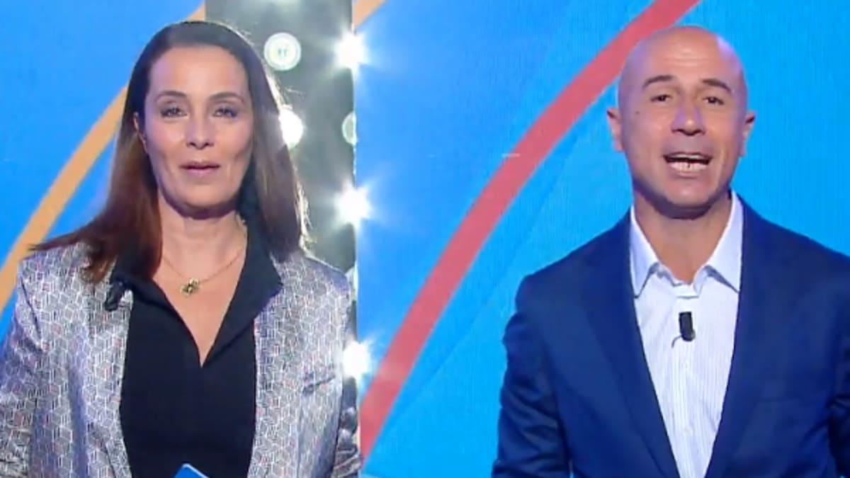 foto di Roberta Capua e Gianluca Semprini a Estate in diretta